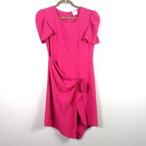 RED Valentino Front Drape Hot Pink Mini Dress
